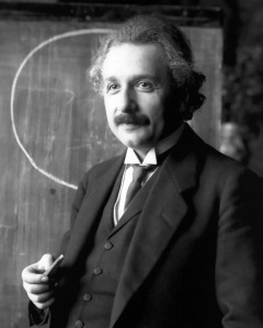 "Albert Einstein: ""All the fine speculations in the realm of science spring from a deep religious feeling, and shit."""